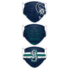 Seattle Mariners MLB Mens Matchday 3 Pack Face Cover
