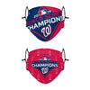 Washington Nationals MLB Thematic Champions Adjustable 2 Pack Face Cover