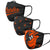 Baltimore Orioles MLB 3 Pack Face Cover (PREORDER - SHIPS IN JUNE)