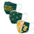 Oakland Athletics MLB 3 Pack Face Cover