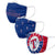 Texas Rangers MLB 3 Pack Face Cover