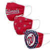 Washington Nationals MLB 3 Pack Face Cover