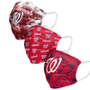 Washington Nationals MLB Womens Matchday 3 Pack Face Cover