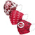 Cincinnati Reds MLB Womens Matchday 3 Pack Face Cover