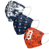 Detroit Tigers MLB Womens Matchday 3 Pack Face Cover
