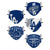 Los Angeles Dodgers MLB Youth Rising Stars Adjustable 5 Pack Face Cover