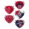 Washington Nationals MLB Youth Rising Stars Adjustable 5 Pack Face Cover