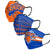 New York Knicks NBA Mens Matchday 3 Pack Face Cover