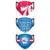 Philadelphia 76ers NBA Mens Matchday 3 Pack Face Cover