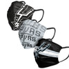 San Antonio Spurs NBA Mens Matchday 3 Pack Face Cover