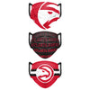 Atlanta Hawks NBA Mens Matchday 3 Pack Face Cover