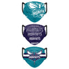 Charlotte Hornets NBA Mens Matchday 3 Pack Face Cover
