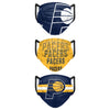 Indiana Pacers NBA Mens Matchday 3 Pack Face Cover