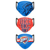 Oklahoma City Thunder NBA Mens Matchday 3 Pack Face Cover