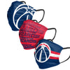 Washington Wizards NBA Mens Matchday 3 Pack Face Cover