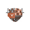 Texas Longhorns NCAA Busy Block Adjustable Face Cover