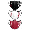 Indiana Hoosiers NCAA Sport 3 Pack Face Cover