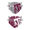 Texas A&M Aggies NCAA Logo Rush Adjustable 2 Pack Face Cover