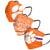 Clemson Tigers NCAA Mens Matchday 3 Pack Face Cover