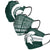 Michigan State Spartans NCAA Mens Matchday 3 Pack Face Cover