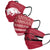 Arkansas Razorbacks NCAA Mens Matchday 3 Pack Face Cover