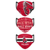 Ball State Cardinals NCAA Mens Matchday 3 Pack Face Cover
