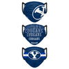 BYU Cougars NCAA Mens Matchday 3 Pack Face Cover
