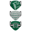 Hawaii Rainbow Warriors NCAA Mens Matchday 3 Pack Face Cover