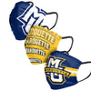 Marquette Golden Eagles NCAA Mens Matchday 3 Pack Face Cover