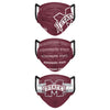 Mississippi State Bulldogs NCAA Mens Matchday 3 Pack Face Cover