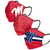 Ole Miss Rebels NCAA Mens Matchday 3 Pack Face Cover