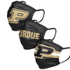 Purdue Boilermakers NCAA Mens Matchday 3 Pack Face Cover