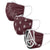 Alabama A&M Bulldogs NCAA 3 Pack Face Cover