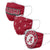 Alabama Crimson Tide NCAA 3 Pack Face Cover