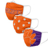 Clemson Tigers NCAA 3 Pack Face Cover