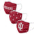 Indiana Hoosiers NCAA 3 Pack Face Cover
