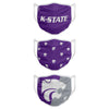 Kansas State Wildcats NCAA 3 Pack Face Cover