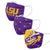LSU Tigers NCAA 3 Pack Face Cover