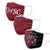 South Carolina Gamecocks NCAA 3 Pack Face Cover