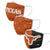 Texas Longhorns NCAA 3 Pack Face Cover