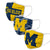 Michigan Wolverines NCAA 3 Pack Face Cover