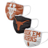 Texas Longhorns NCAA Super Fan 3 Pack Face Cover