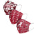 Alabama Crimson Tide NCAA Womens Matchday 3 Pack Face Cover