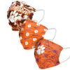 Clemson Tigers NCAA Womens Matchday 3 Pack Face Cover