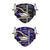 Baltimore Ravens NFL Logo Rush Adjustable 2 Pack Face Cover