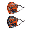 Chicago Bears NFL Logo Rush Adjustable 2 Pack Face Cover