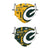 Green Bay Packers NFL Logo Rush Adjustable 2 Pack Face Cover