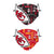 Kansas City Chiefs NFL Logo Rush Adjustable 2 Pack Face Cover
