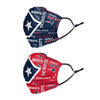 New England Patriots NFL Logo Rush Adjustable 2 Pack Face Cover