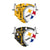 Pittsburgh Steelers NFL Logo Rush Adjustable 2 Pack Face Cover